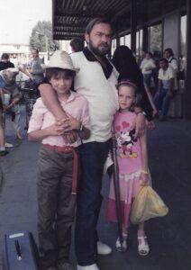 1986 r., Okęcie, po powrocie z US